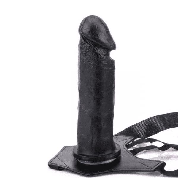 Cinta Com Penis 17,5x3,8cm Preto - Sexshop Atacado
