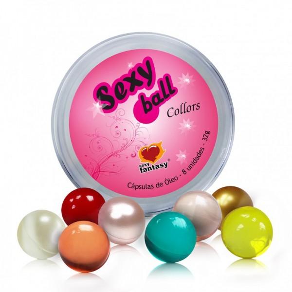 Bolinha Sexy Ball Collors 8unid - Sexshop Atacado