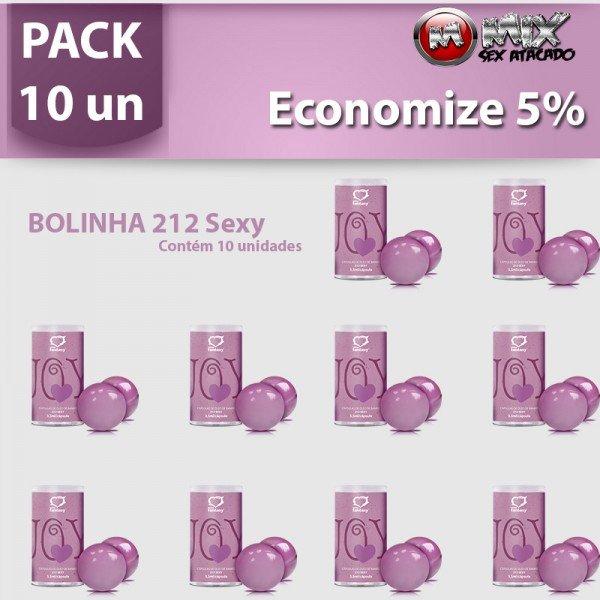 Pack 10 Bolinhas 212 Sexy - Sexshop Atacado