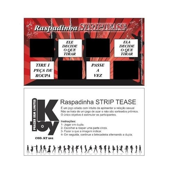 Raspadinha Striptease - Sexshop Atacado