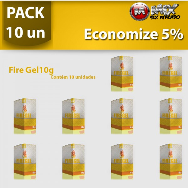 Pack 10 - Fire Gel 10g - Sexshop Atacado