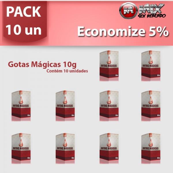 Pack 10 Gotas Magicas - Sexshop Atacado
