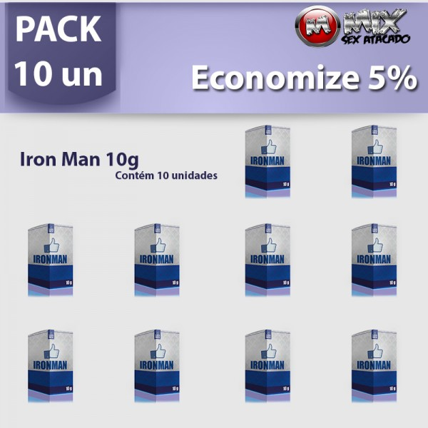 Pack 10 - Iron Man 10g - Sexshop Atacado