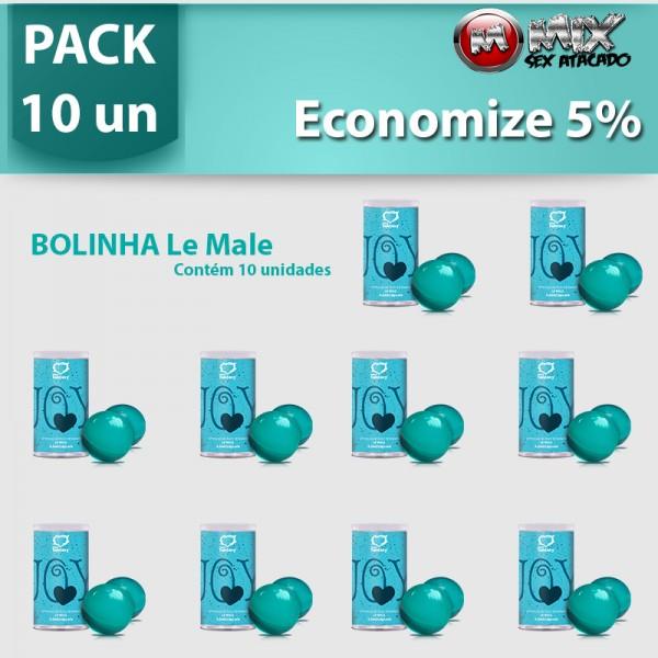 Pack 10 Bolinha Lemalle - Sexshop Atacado