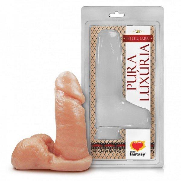 Penis com Escroto 12x4cm Bege